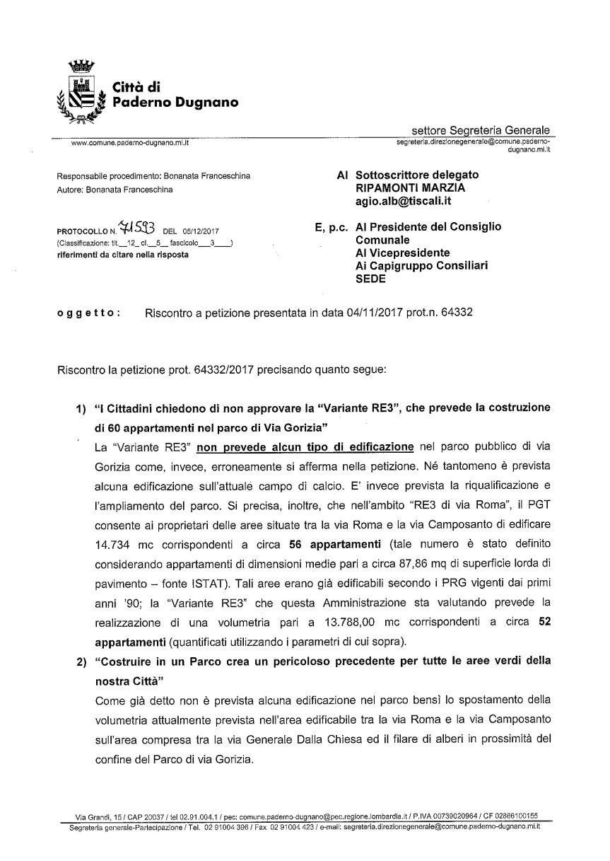 3a_riscontro Sindaco a petizione_Pagina_1