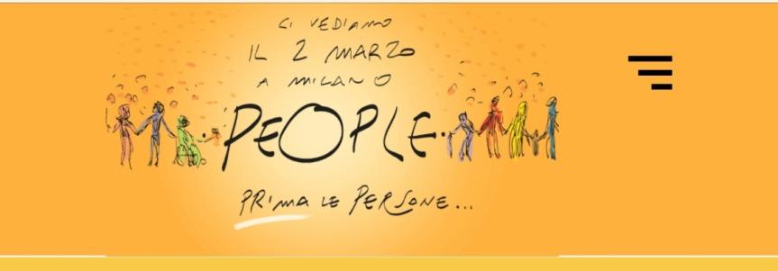 PEOPLE. PRIMA LE PERSONE.  Il 2 marzo prossimo, alla fermata della metro Palestro, davanti ai giardini Montanelli di Porta Venezia alle ore14.