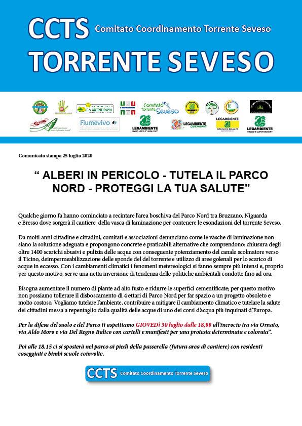 """""""ALBERI IN PERICOLO – TUTELA IL PARCO NORD – PROTEGGI LA TUASALUTE"""""""